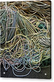 Coils Of Rope Acrylic Print by Carol Leigh