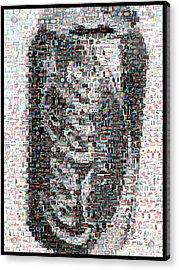 Coke Can Mosaic Acrylic Print by Paul Van Scott