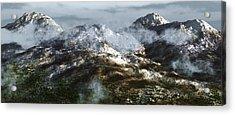 Cold Mountain Acrylic Print by Richard Rizzo