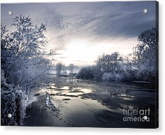 Cold River Flow Acrylic Print by Angel  Tarantella