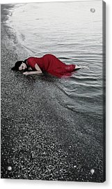 Cold Waves II Acrylic Print by Cambion Art