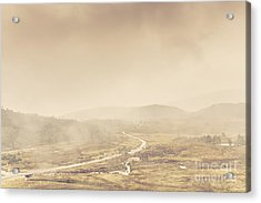 Cold Winter Landscape On Cradle Mountain Tasmania Acrylic Print by Jorgo Photography - Wall Art Gallery