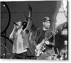 Coldplay 14 Acrylic Print by Rafa Rivas