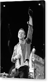 Coldplay 16 Acrylic Print by Rafa Rivas