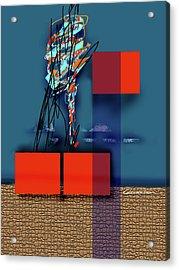 Collapsing Ego Acrylic Print by Dean Gleisberg