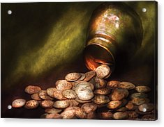 Collector - Coin - Treasure Quest  Acrylic Print by Mike Savad