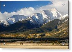 Collegiate Peaks From Buena Vista Colorado Acrylic Print by Rhonda Van Pelt