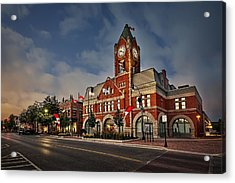 Collingwood Townhall Acrylic Print by Jeff S PhotoArt