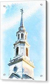 Colonial Church Concord Acrylic Print by Edward Fielding