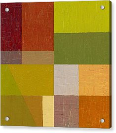 Color Study With Orange And Green Acrylic Print by Michelle Calkins