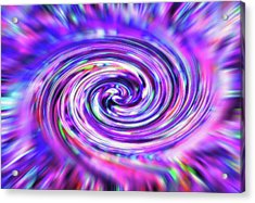 Color Whirlpool - Derived From Ribbon Grass Plant Image Acrylic Print by Steve Ohlsen
