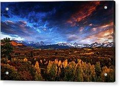 Colorado Autumn Panorama Acrylic Print by Andrew Soundarajan