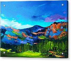 Colorado Hills Acrylic Print by Elise Palmigiani