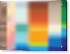 Colorblock Place Acrylic Print by Kevin McLaughlin