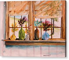 Colored Glass Acrylic Print by John  Williams