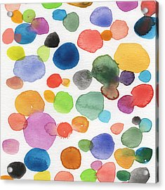 Colorful Bubbles Acrylic Print by Linda Woods