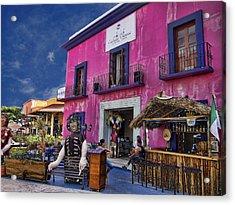 Colorful Cancun Acrylic Print by Douglas Barnard
