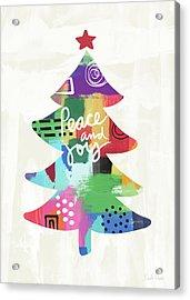 Colorful Christmas Tree- Art By Linda Woods Acrylic Print by Linda Woods