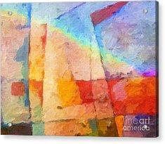 Colorful Coast Acrylic Print by Lutz Baar