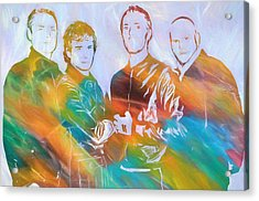 Colorful Coldplay Acrylic Print by Dan Sproul