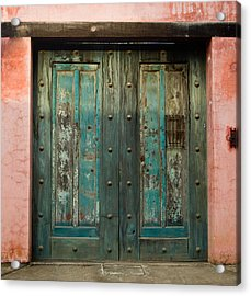 Colorful Doors Antigua Guatemala Acrylic Print by Douglas Barnett