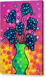 Colorful Flower Bouquet By Sharon Cummings Acrylic Print by Sharon Cummings