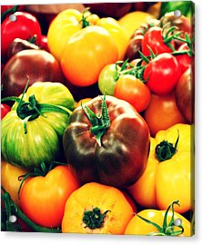Colorful Harvest Acrylic Print by Cathie Tyler