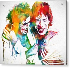 Colorful Mick And Keith Acrylic Print by Dan Sproul