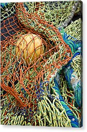 Colorful Nets And Float Acrylic Print by Carol Leigh
