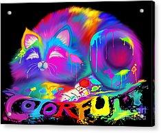 Colorful Acrylic Print by Nick Gustafson