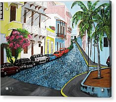Colorful Old San Juan Acrylic Print by Luis F Rodriguez