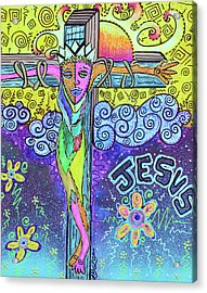 Colorful Prayers Acrylic Print by Laura Barbosa