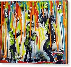 Colorful Rain And Bliss Acrylic Print by Robert Wolverton Jr