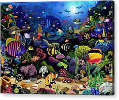 Colorful Reef Acrylic Print by Gerald Newton