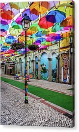 Colorful Street Acrylic Print by Marco Oliveira