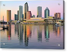 Colorful Tampa Bay Acrylic Print by Frozen in Time Fine Art Photography
