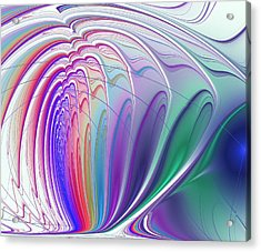 Colorful Waves Acrylic Print by Anastasiya Malakhova