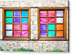Colorful Windows Acrylic Print by Tom Gowanlock
