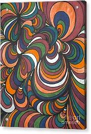 Colorway 4 Acrylic Print by Ramneek Narang