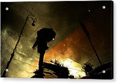 Coloured Rain Acrylic Print by Fulvio Pellegrini