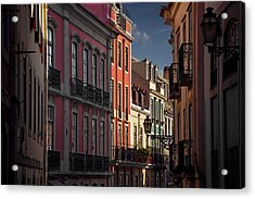Colourful Architecture In Lisbon Portugal  Acrylic Print by Carol Japp