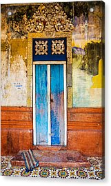 Colourful Door Acrylic Print by Dave Bowman