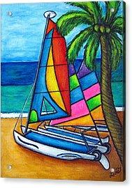Colourful Hobby Acrylic Print by Lisa  Lorenz