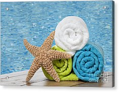 Colourful Towels Acrylic Print by Amanda And Christopher Elwell