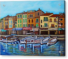 Colours Of Cassis Acrylic Print by Lisa Lorenz