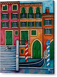 Colours Of Venice Acrylic Print by Lisa  Lorenz