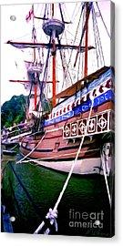 Columbus Day Celebration Acrylic Print by Methune Hively