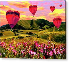 Come Fly With Me Acrylic Print by Kurt Van Wagner