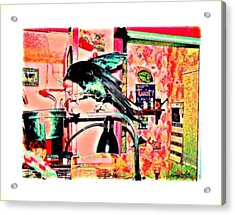 Crow Dance Acrylic Print by YoMamaBird Rhonda