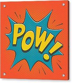 Comic Pow Acrylic Print by Mitch Frey